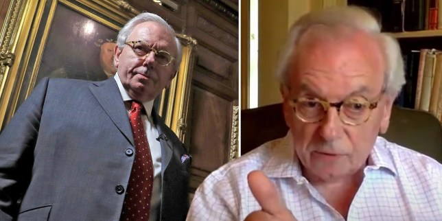 TV historian David Starkey, who has been sacked as visiting professor at Canterbury Christ Church University for saying 'slavery was not genocide' because 'so many damn blacks live in Africa and Britain'