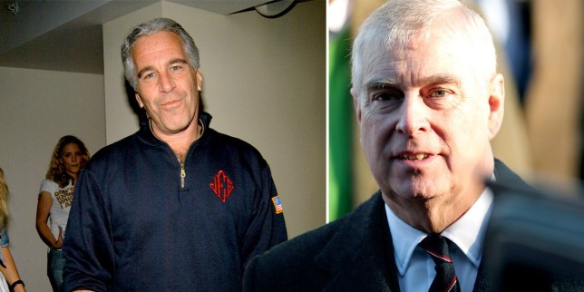 Prince Andrew and Jeffrey Epstein composite image as Ghislaine Maxwell arrested by FBI