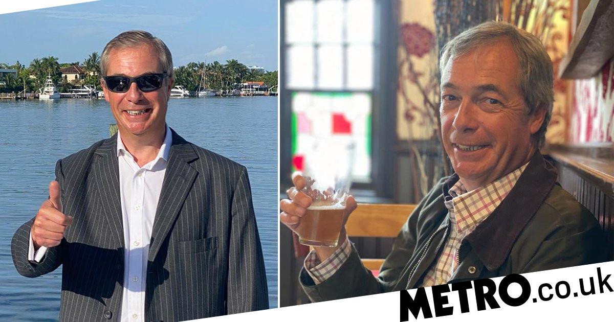 Nigel Farage denies breaking quarantine to visit his local pub after US trip  Metro News