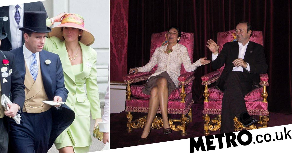 Ghislaine Maxwell posed for photo on Queen's throne with Kevin Spacey - metro