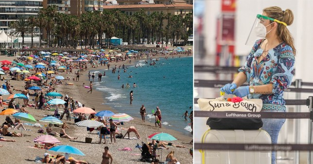 Spain closed 55 beaches in Andalucia after too many flocked to the coast over the weekend.