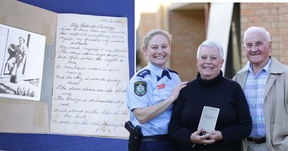 Margo Cooper's daughter Rosie Gibson with her mums diary