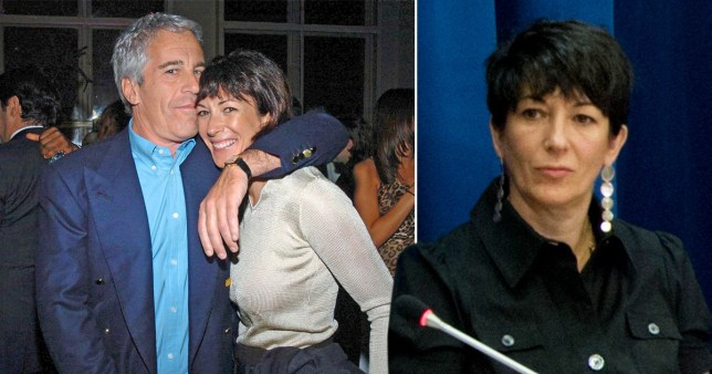 Jeffrey Epstein pictured with his ex-girlfriend and British socialite Ghislaine Maxwell (also pictured right) who is facing charges over her alleged role in Epstein's sex ring.