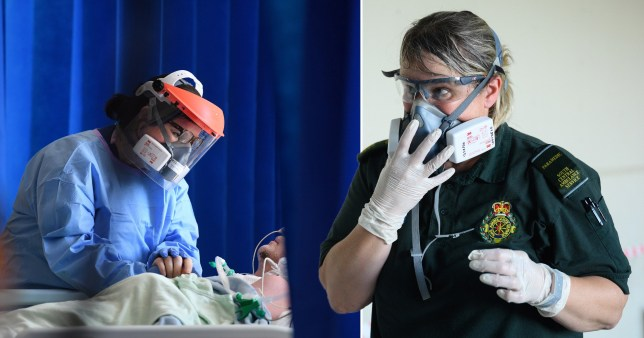 Health workers wearing PPE