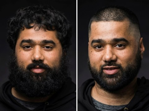 Salon captures before and after portraits of people's post-lockdown haircuts