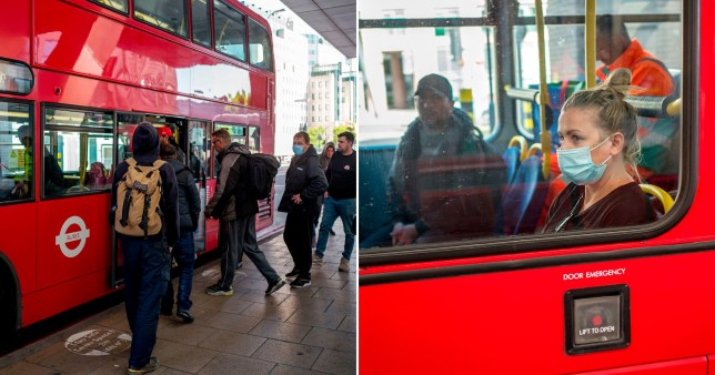 Transport officers have stopped thousands of people from getting on London buses without a face covering