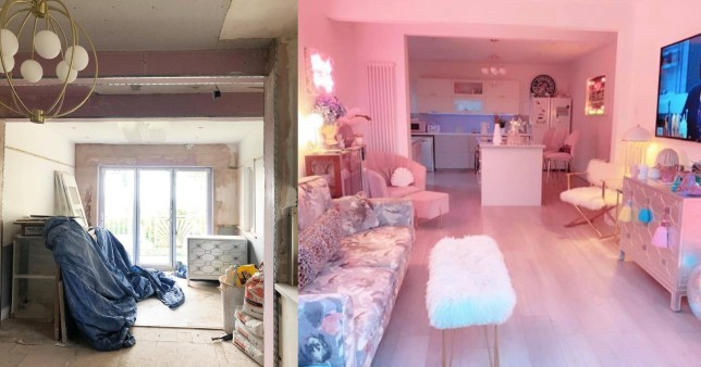 amazing all pink home transformation