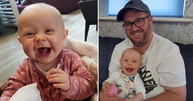 Photos of Rose Jeans, who died of a rare cancer after first birthday