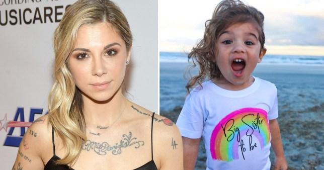Christina Perri and her daughter Carmella