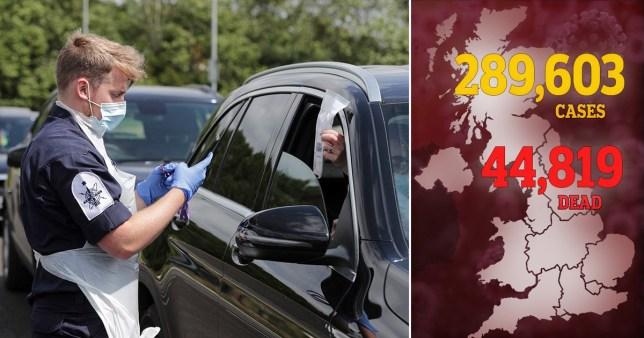 UK coronavirus death toll Sunday July 12.