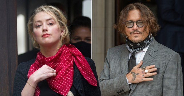 Amber Heard and Johnny Depp pictured separately at high court