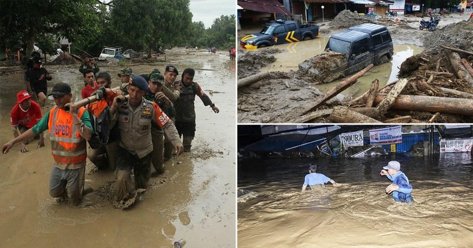 Three rivers burst their banks