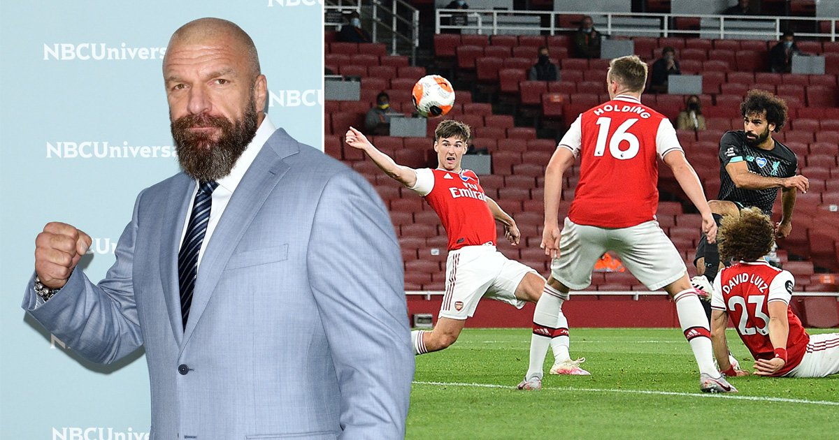 Arsenal come out to WWE legend Triple H's theme song during Liverpool win - metro
