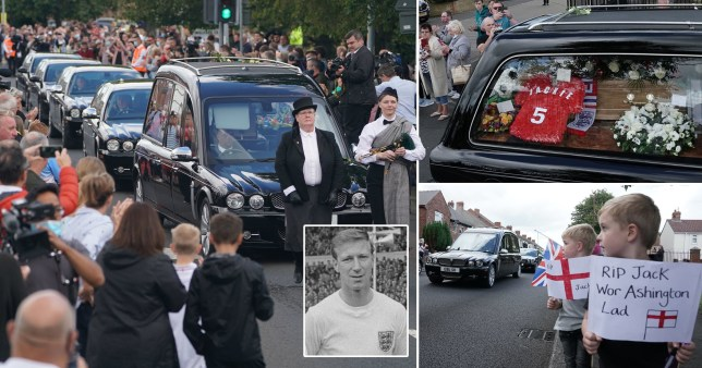 Jack Charlton's funeral