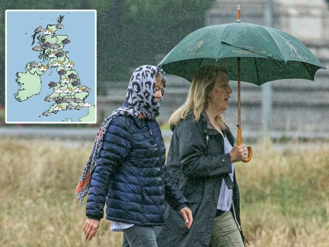 Weekend washout as rain and thunder set to batter parts of Britain
