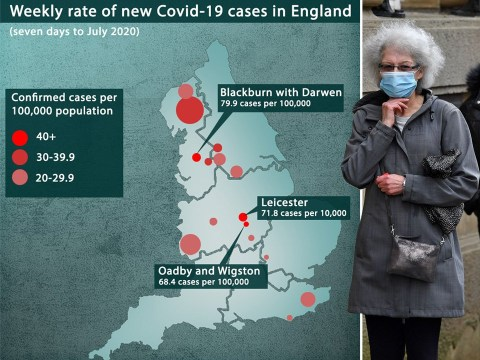 Areas in England at risk of local lockdown where infections are rising