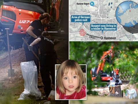Madeleine McCann police search allotment near Hanover linked to disappearance