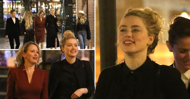 Amber Heard on night out after Johnny Depp trial ends