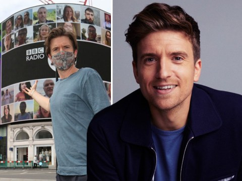 Greg James 'blessed' after completing Up Yours Corona campaign as video plays in Piccadilly Circus