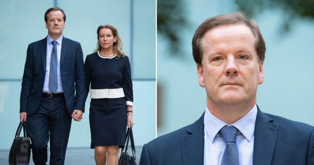 Former Conservative MP Charlie Elphicke at Southwark Crown Court with Dover MP Natalie Elphicke where he was found guilty of three counts of sexual assault