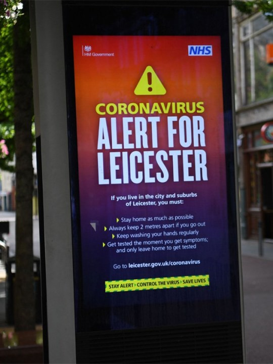 Leicester alert sign