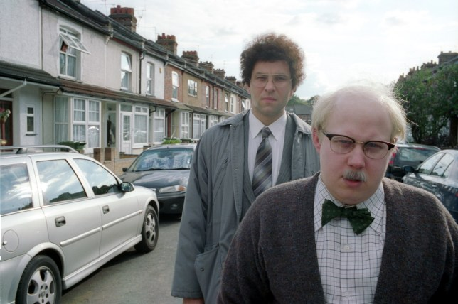 Television Programme: The Big Night In with Children In Need and Comic Relief - TX: 23/04/2020 - Episode: The Big Night In - Little Britain (No. n/a) - Picture Shows: Little Britain is back for The Big Night In Roy (MATT LUCAS), Mr Mann (David Walliams) - (C) BBC - Photographer: N/A