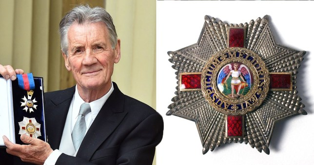 Sir Michael Palin wants Queens honour insigna changed due to 'racist connotations' (Picture: Rex)