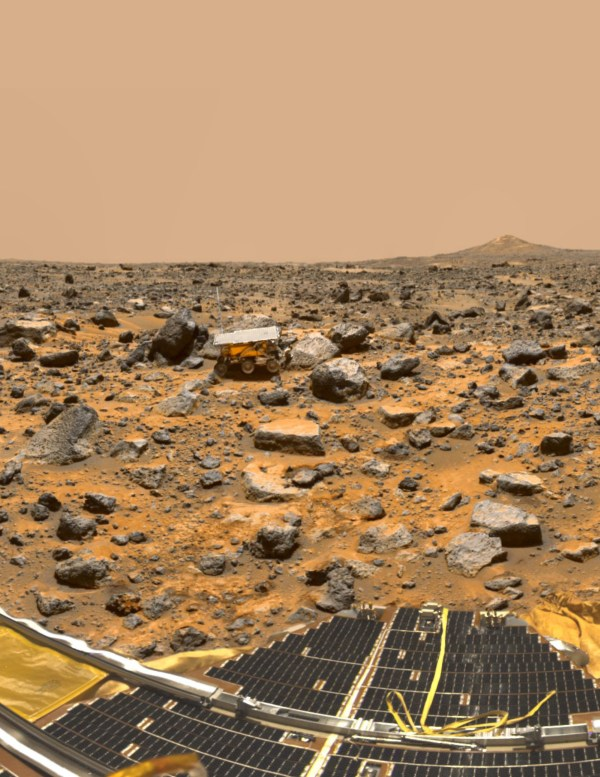 Hitching a ride on the Mars Pathfinder mission, the Sojourner rover arrived at the Red Planet on July 4, 1997. (Credits: NASA/ZUMA Wire/REX)