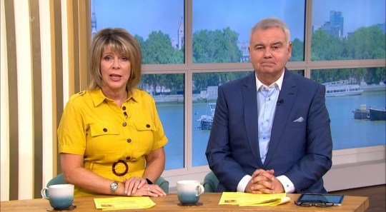 Mandatory Credit: Photo by ITV/REX (10700427ad) Eamonn Holmes, Ruth Langsford and Josie Gibson 'This Morning' TV show, London, UK - 03 Jul 2020