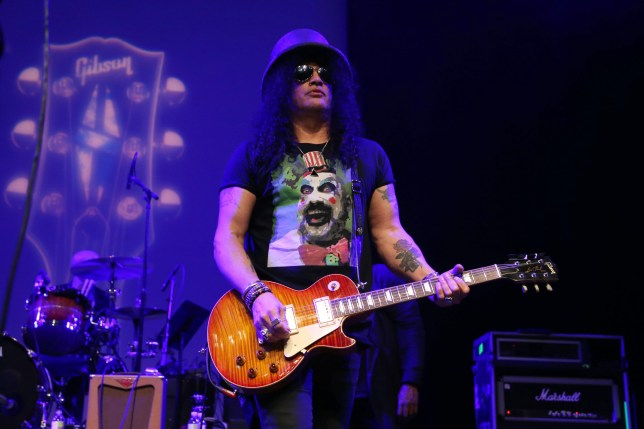 ANAHEIM, CALIFORNIA - JANUARY 16: Slash performs onstage at the GIBSON NAMM JAM Opening Party 2020 at City National Grove of Anaheim on January 16, 2020 in Anaheim, California. (Photo by Phillip Faraone/Getty Images for Gibson)