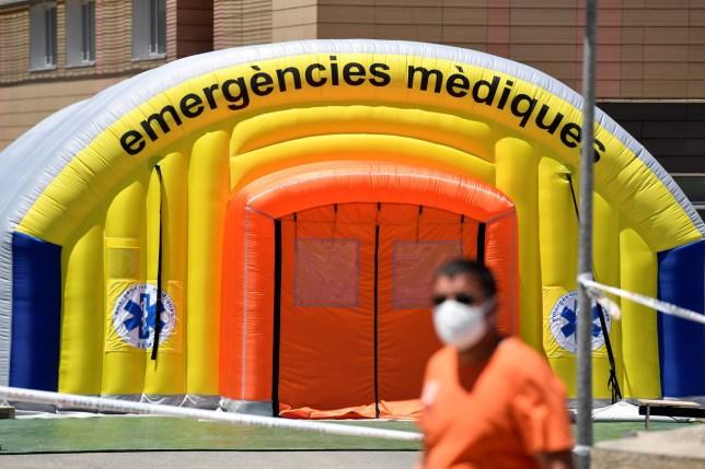Un hôpital ouvert pour les cas de Covid à Lleida, en Espagne