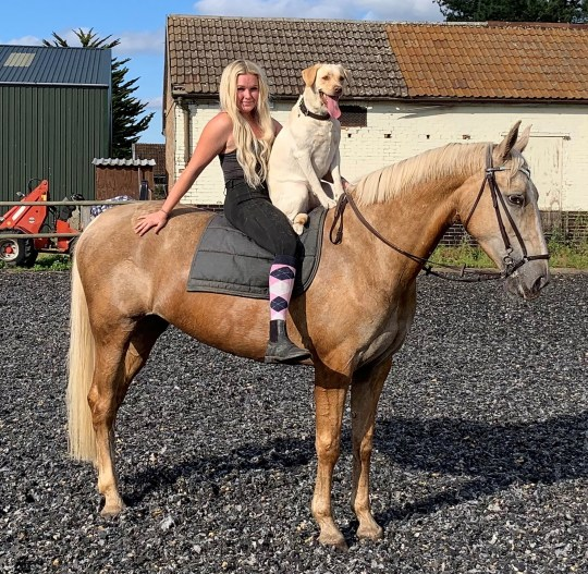 ruby on a horse with owner Jadene
