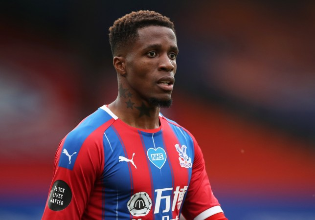 Wilfried Zaha has suffered racist abuse on social media before Crystal Palace's match against Aston Villa