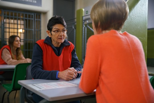 FROM ITV STRICT EMBARGO - No Use Before Tuesday 14th July 2020 Coronation Street - Ep 10090 Monday 20th July 2020 Yasmeen Metcalfe [SHELLEY KING] tells her cell mate that she is getting a visit from a women?s charity. When the woman [PAULA WILCOX] arrives Yasmeen is shocked by what she reveals. Picture contact - David.crook@itv.com This photograph is (C) ITV Plc and can only be reproduced for editorial purposes directly in connection with the programme or event mentioned above, or ITV plc. Once made available by ITV plc Picture Desk, this photograph can be reproduced once only up until the transmission [TX] date and no reproduction fee will be charged. Any subsequent usage may incur a fee. This photograph must not be manipulated [excluding basic cropping] in a manner which alters the visual appearance of the person photographed deemed detrimental or inappropriate by ITV plc Picture Desk. This photograph must not be syndicated to any other company, publication or website, or permanently archived, without the express written permission of ITV Picture Desk. Full Terms and conditions are available on www.itv.com/presscentre/itvpictures/terms