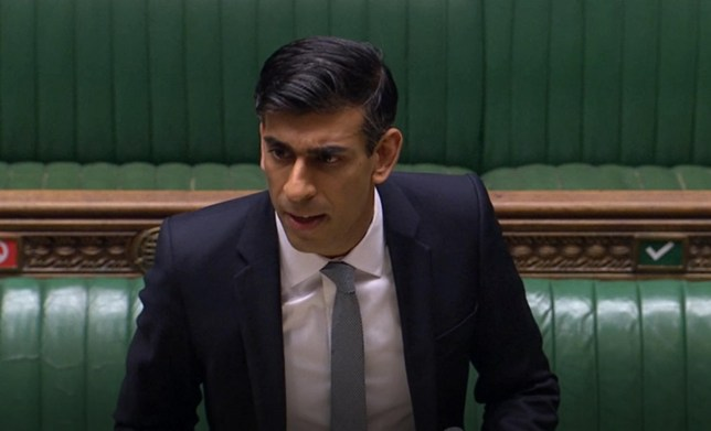 Chancellor of the Exchequer Rishi Sunak delivers his mini-Budget