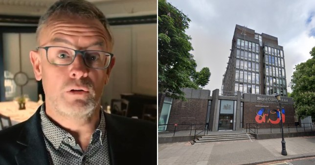 Royal College of Art (left) and Mark Harrison, whose appointment as 'head of inclusion' was withdrawn after it sparked a race row