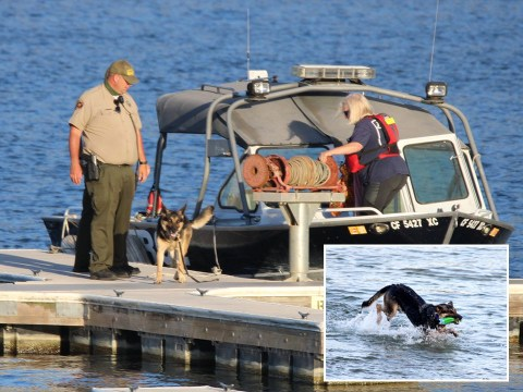 Rescue dogs join search for Naya Rivera as Glee star is presumed dead after going missing at Lake Piru