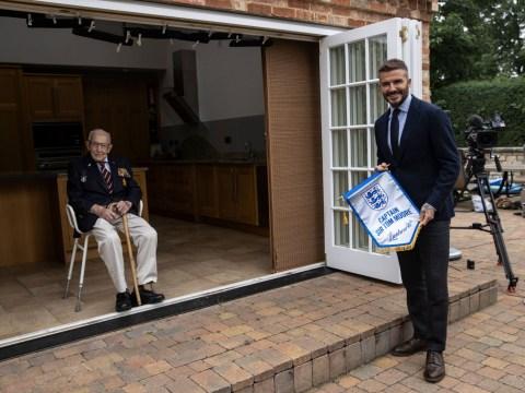 David Beckham met Captain Tom Moore and it's legends meeting legends