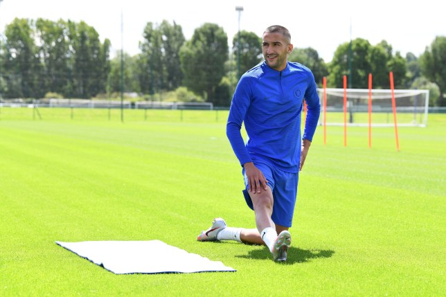Hakim Ziyech was given an individual training session with Chelsea on Saturday