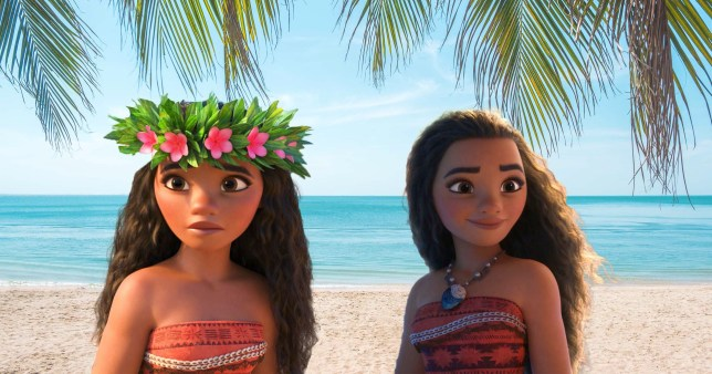Moana pictured in 2016 Disney movie