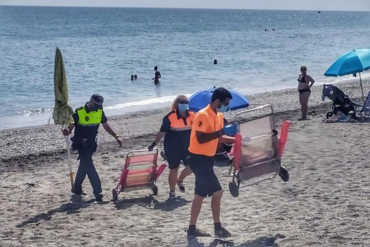 Council officials in Torrox, Costa del Sol, have warned tourists and sunbathers who disappear for 'hours' that they will be fined.