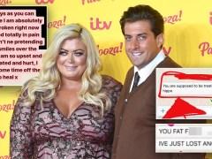 James Argent brands Gemma Collins a 'hippo' in cruel texts before break-up