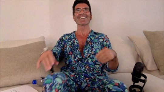 Simon Cowell changes into pajamas for America's Got Talent
