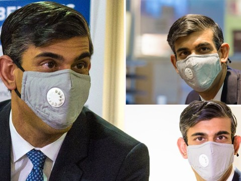 Rishi Sunak criticised for wearing valved mask that's 'worse than nothing'