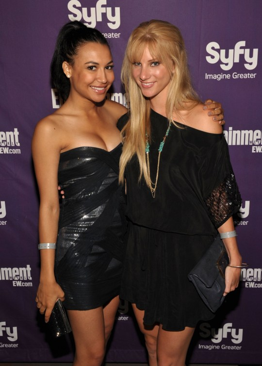 SAN DIEGO - JULY 24: Actresses Naya Rivera (L) and Heather Morris attend the EW and SyFy party during Comic-Con 2010 at Hotel Solamar on July 24, 2010 in San Diego, California. (Photo by John Shearer/Getty Images for EW)