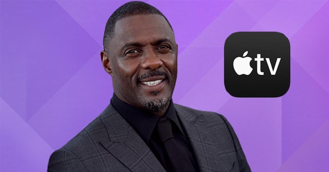 Idris Elba and the Apple TV Plus logo