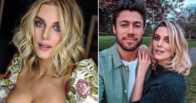 Ashley James pictured with boyfriend Tom Andrews