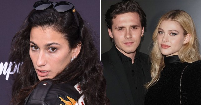 Lexy Panterra pictured separately alongside Brooklyn Beckham and girlfriend Nicola Peltz