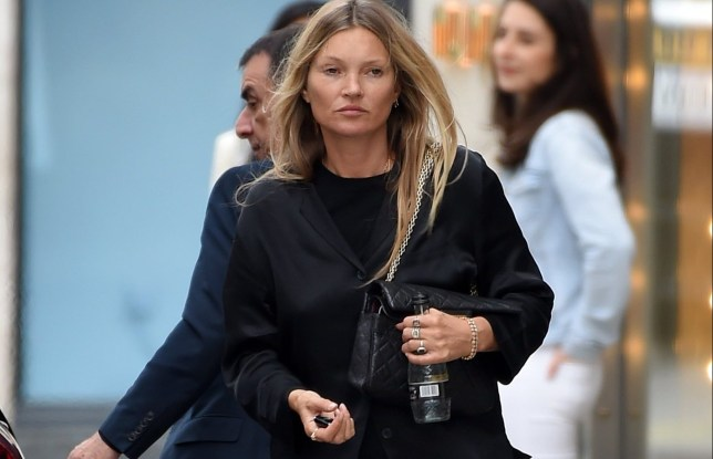 EXCLUSIVE: * Min Web / Online Fee 300 GBP For Set * * Min Print fee 250 GBP PP * Double Pg 1 * Kate Moss shops at MIUMIU flagship store on New Bond street in Central London. The model exited the designer shop holding a large bag after making a purchase. Today Amber Heard told the court she heard Johnny Depp 'pushed Kate Moss down the stairs' Pictured: Kate Moss Ref: SPL5177915 200720 EXCLUSIVE Picture by: SplashNews.com * Min Web / Online Fee 300 GBP For Set * * Min Print fee 250 GBP PP * Double Pg 1 * Splash News and Pictures USA: +1 310-525-5808 London: +44 (0)20 8126 1009 Berlin: +49 175 3764 166 photodesk@splashnews.com World Rights