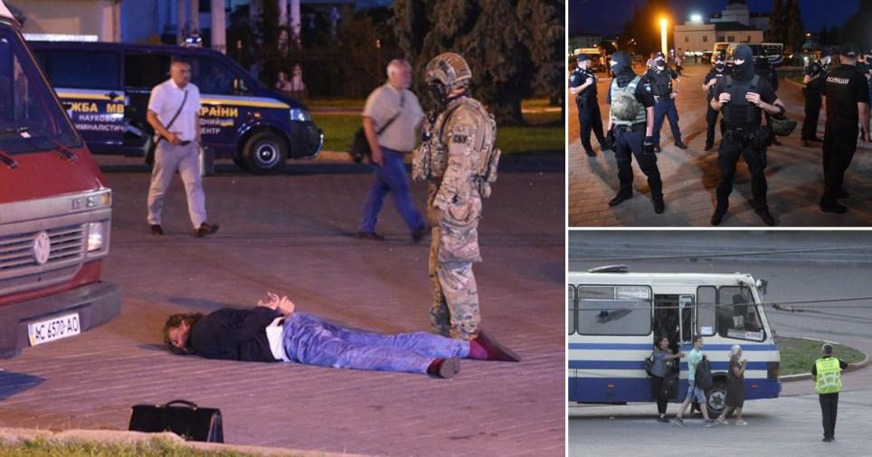 Treize otages libérés par un tireur `` instable '' PICS: Rex / Getty